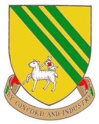 Arms of the former Droylsden Urban District Council