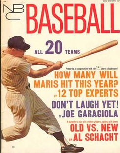 Cover of the 1962 NBC Baseball Annual.