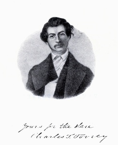 Charles Turner Torrey, c. 1840, from Memoir of Rev. Charles T. Torrey, Joseph P. Lovejoy, ed. (Boston: John P. Jewett & Co.), 1847