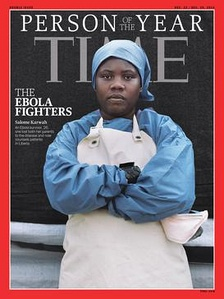 "Time magazine's 2014 ""Person of the Year"" with Karwah on the cover."