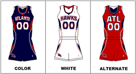 "Uniforms from 2007 to 2015. In 2014, the shorts logo changed to the team's former ""Pac-Man"" logo."