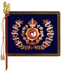 The regimental colour of the Winnipeg Grenadiers.