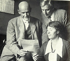 Debs with Max Eastman and Rose Pastor Stokes in 1918