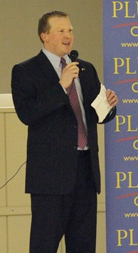 Jason Plummer at an event in Bethalto, Illinois, 2011