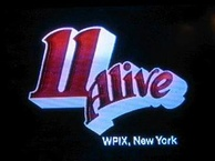 "The first 11 Alive logo, which was used from 1976 to 1982. A modified version of the logo is used for its 11.2 subchannel, adding "".2"" next to the 11."