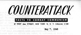 The May 7, 1948, issue of the Counterattack newsletter