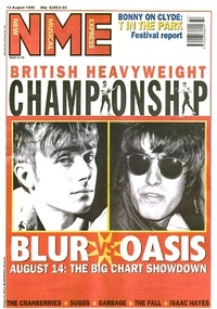 Blur vs Oasis, August 1995. NME started 1990 in the thick of the Madchester scene, covering the new British indie bands and shoegazers.