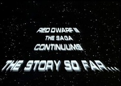 The Star Wars type scroll used to update viewers on recent events from the previous series