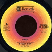 A-side label of the U.S. vinyl single
