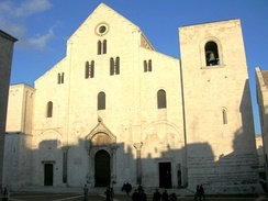 Basilica di San Nicola in Bari, Italy where most of the relics of Saint Nicholas are kept today[69]