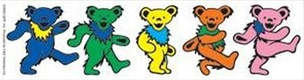 "Owsley ""Bear"" Stanley wrote that the ""dancing bears"" designed by Bob Thomas for History of the Grateful Dead, Volume One (Bear's Choice) are marching, not dancing.[111]"
