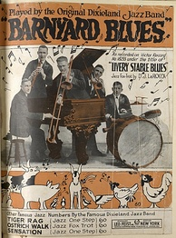 "Sheet music for ""Livery Stable Blues""/""Barnyard Blues"" by the Original Dixieland Jazz Band, Leo Feist, Inc., New York, copyright 1917"