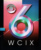 WCIX's first CBS-era logo, introduced in summer 1989.