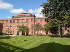 A view across Chancellor's Court, towards the Law building