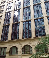 The Driehaus College of Business, which contains the Kellstadt Graduate School of Business, is located at State and Jackson in the Chicago Loop.