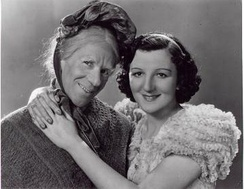 Arthur Lucan and Kitty McShane as Old Mother Riley and her daughter 'Kitty'.