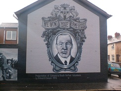 Sir Edward Carson mural in Belfast in 2006