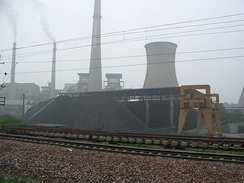 A coal-fired power station in the People's Republic of China