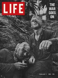Henri Huet's photograph of Thomas Cole featured on the cover of Life, February 11, 1966