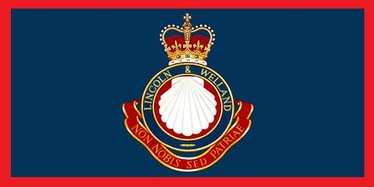 The camp flag of The Lincoln and Welland Regiment