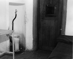 The cell where Robert Ley hanged himself