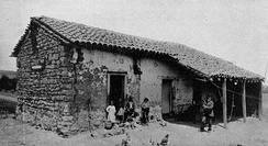 An 1840 Santa Monica adobe home (photographed in 1890).