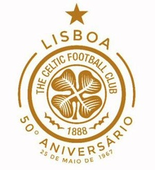 Special commemorative crest used in season 2017-18 to celebrate the 50th anniversary of the club's European Cup Final win in 1967.