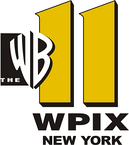 "WPIX's original ""WB 11"" logo, used from 1994 to 1999. The box with ""THE"" was removed in a variant used from 1999 to 2006."