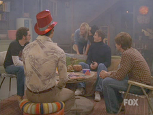 The circle illustrated the teens' marijuana use, usually in Eric's basement. The picture is of the final scene of the series.