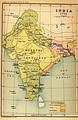 Political map of the Indian Subcontinent in the year 1765.
