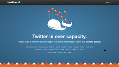The Twitter fail whale error message