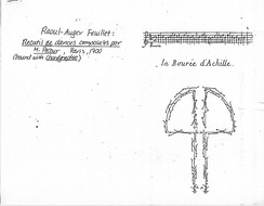 Eight bars of a dance recorded and published by Feuillet in 1700