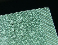 A tactile feature on a Canadian banknote