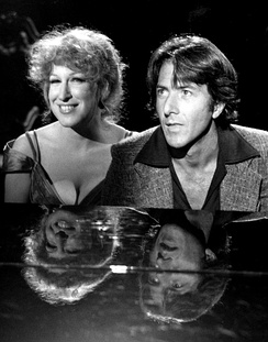 Midler with Dustin Hoffman on Bette Midler TV special (1977)