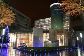 The Saltire Centre at Glasgow Caledonian University, one of the busiest university libraries in the UK