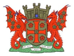 The coat of arms of Carlisle City Council
