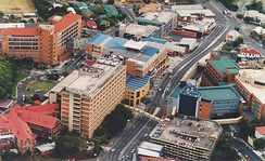 Aerial of part of Mater Health Services campus at South Brisbane