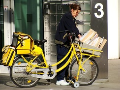 Delivery by bicycle in Germany