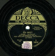 Original 1929 Decca release of Sea Drift by Delius, first published recording of the work, but deleted by 1936