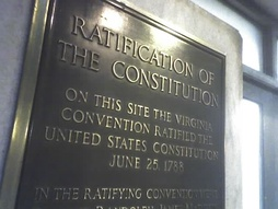 Plaque marking the site of the Virginia Federal Constitution, Richmond VA[17]