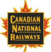 "An early logo or ""herald"" of the Canadian National Railways. It was replaced by the CN ""worm"" in 1960."