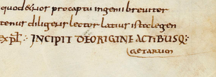 The title of the Getica as it appears in a 9th-century manuscript of Lorsch Abbey now in the Vatican Library