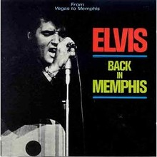The cover of side three and side four, known as Elvis Back In Memphis