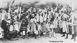 The Mongoose Play, a popular production of folk theatre and music
