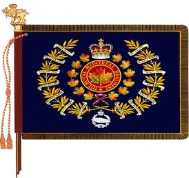 The regimental colour of The Royal Montreal Regiment.