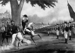 Washington taking Control of the Continental Army, 1775.