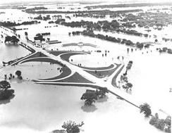 July 13: The Great Flood of 1951 reaches its peak