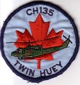 CH-135 Twin Huey badge worn by some Canadian Forces air and ground crew, 1980s