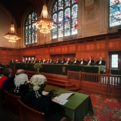 The judges of the International Court of Justice in the Hague