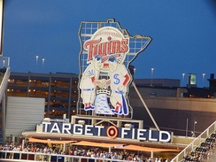Minnie and Paul, representing the Twin Cities, is the logo for the Minnesota Twins.